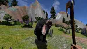 Another black bear attacking the player
